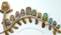 Owl Stuff: Painted Owl stones by Sehnaz Bac