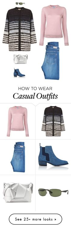 """casual look"" by candynena228 on Polyvore featuring Pierre Hardy, AG Adriano Goldschmied, Prada, Kirei, Acne Studios and Ray-Ban Casual Wear, Casual Outfits, Cute Outfits, Pierre Hardy, Adriano Goldschmied, Acne Studios, Casual Looks, Prada, Dream Closets"