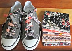 A Scrappy Patchwork Shoelace Tutorial by maureencracknell, via Flickr