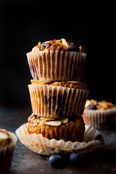 Blueberry Almond Power Muffins - Sallys Baking Addiction