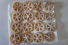 The Modern Housewife: Sugar Waffles-AKA Rosette Cookies Rosettes Cookie Recipe, Rosette Cookies, Waffle Recipes, Baking Recipes, Cookie Recipes, Cookie Ideas, Copycat Recipes, Yummy Recipes, Snack Recipes