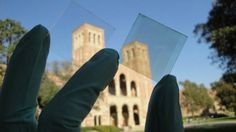A UCLA team has developed a new solar cell that is nearly 70 percent transparent to the naked eye, opening up the possibility of inexpensive solar windows.