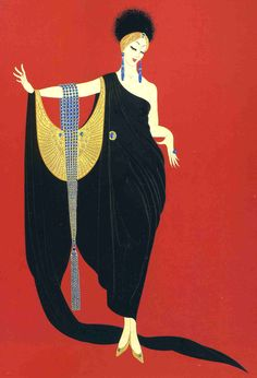 Romain de Tirtoff (Russian-born French, Art Deco, 1892–1990), known by the pseudonym Erté. Description from pinterest.com. I searched for this on bing.com/images