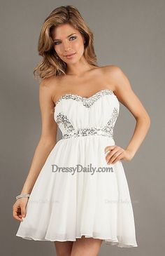 I like this - Short Strapless Sweetheart Prom Dress. Do you think I should buy it?