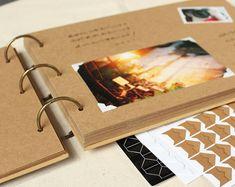 Foto Album, Kraft-Foto-Album, schwarze Kraft Fotoalbum, Ringbuch-Foto-Album, leere Scrapbook Album, Hochzeitsalbum, Babyfoto Album