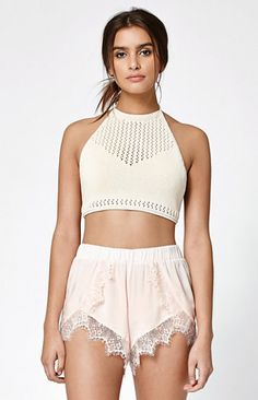 Eyelash Lace Tulip Shorts
