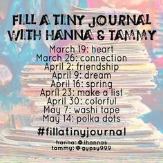 """iHanna på Instagram: """"Fill a tiny journal with me and Tammy, posting a finished journal page using the hashtag #fillatinyjournal on Fridays - and YOU are invited…"""" Journal Prompts, Journal Pages, Journals, Spring Challenge, Diy Postcard, Small Journal, Yellow Daisies, Art Friend, Going On A Trip"""