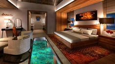 The Sandals Royal Caribbean resort...The stunning ocean experience continues on the inside where glass floors allow you to view blue waters and tropical fish at your leisure.