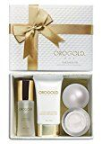 OROGOLD Skin Care Set - Travel size - Contains 24K Purifying Facial Toner, 24K Cell Renewal Night Cream, 24K Golden Body Butter - Package 3 - https://www.avon.com/?repid=16581277 Shop Avon & Save  Envelop your skin in the comfort of the OROGOLD 24K Package 3. This skin care set helps you get over the stresses of travel as you lead your skin from dry and fatigued to calm and refreshed. Consisting of three skin care products, this travel kit for women offers a luxurious ro