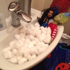 think buddy is getting a little too cosy one of the dolls #elfonashelf #bathtime
