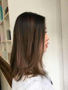 balayage asian subtle hair