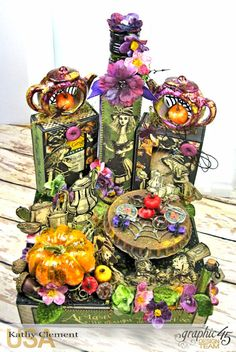 Halloween Tea with Alice, Halloween in Wonderland, by Kathy Clement, Product by Graphic 45 Photo 4