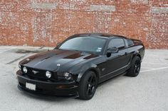 2007 Mustang Gt Matte Black With Gloss Racing Stripe Murdered Out 2006 Mustang Gt, Mustang Cars, Ford Mustang Gt, Black Mustang, Racing Stripes, Sport Cars, Custom Cars, Dream Cars, Muscle Cars