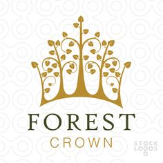 Logo Sold Modern, elegant and sophisticated design of a royal crown created with a forest of trees.