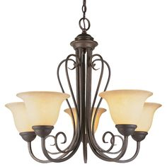 Bel Air Adjoa 5 Light Chandelier-Double-Scroll - 6525 ABZ