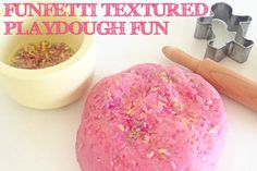 Funfetti Textured Playdough Fun- pinned by @PediaStaff – Please Visit  ht.ly/63sNt for all our pediatric therapy pins