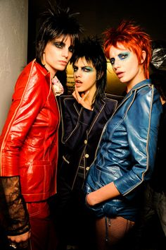 I love this collection 70s Glam Rock, Rock Chic, Rock Style, Jean Paul Gaultier, Glam Rock Makeup, Mullet Haircut, Glam And Glitter, Punk Fashion, Lolita Fashion