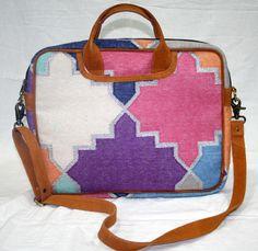 Vintage Kilim RugLaptop Bag  Kilim Bag Messenger Shoulder Bag With White Lining  #handmade