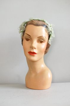 1950s headband, dear golden vintage etsy