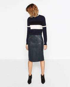 FAUX LEATHER PENCIL SKIRT-NEW IN-WOMAN | ZARA United States