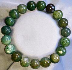 Natürliche Achat Heilstein Perlen Armband 10mm
