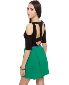 Cut Loose Black Cutout Top