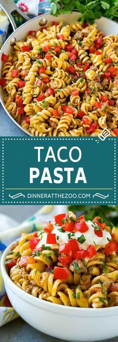 Taco Pasta Recipe | Cheesy Pasta | Mexican Pasta #taco #pasta #dinneratthezoo
