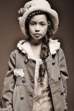Fashion Kids - Portrait - Black and White - Photography