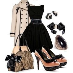 Love the dress, jacket, bag and ring. Not so much in love with the shoes.