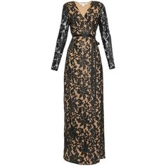 Diane Von Furstenberg Elle gown (2.110 BRL) ❤ liked on Polyvore featuring dresses, gowns, black nude, diane von furstenberg, sequin evening gowns, print evening gowns, print gown and mixed print dress