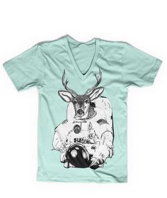 Olan Rogers Space Deer V-Neck, I have this shirt! I love it! The color's really pretty and it's soft!