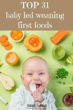 BLW first foods – 30 top baby led weaning starter foods - - Starting finger foods is an exciting time on your baby's weaning journey. Check our list of top 30 BLW first foods to get started with baby led weaning. Baby Led Weaning First Foods, Weaning Foods, Baby First Foods, Baby Weaning, Baby Finger Foods, Weaning Toddler, Fingerfood Baby, Gripe Water, Homemade Baby Foods