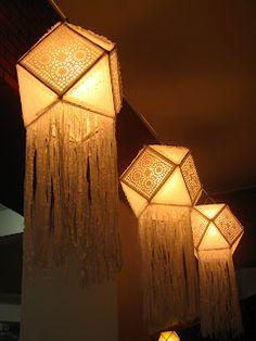 Best craft vesak lanterns images in stencil patterns