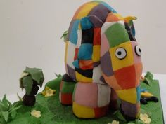 Yes, its a birthday cake looking like a cloth elephant. Took a while to get the patchwork effect right, but has a nice final result.   Elmer Cake
