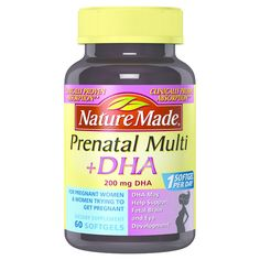 Nature Made Prenatal Multivitamin+DHA 200 mg Liquid Softgels - 60 Count