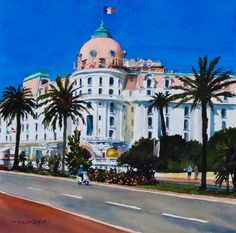 Le Negresco Hotel in Nice, France. One of my most popular watercolours sold as a print.