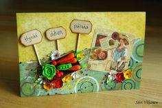 Mother's Day card with Fimo veggies - Made by Siiri Viljanen - Käsitöitä flamencohame hulmuten