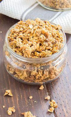 7. Pear Granola #healthy #granola #recipes http://greatist.com/eat/homemade-granola-recipes-that-are-healthy