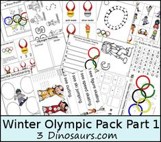 Winter Olympics Pack - 3Dinosaurs.com
