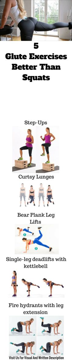Best glute exercises that will help you shape your body easy and you can do it at home.