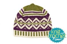 Free Vineyard Hat Knit Pattern Download -- Designed by Sandi Rosner. Featured in Season 5, episode 502, of Knit and Crochet Now! TV. Download here: https://www.anniescatalog.com/knitandcrochetnow/patterns/detail.html?pattern_id=11