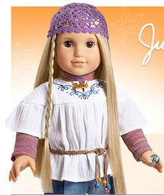 Julie American Girl Doll. Aaliyah really wants her! Plus she looks like her, especially the hair. -Hailey