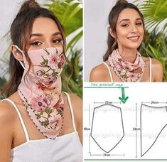 ― Cortes e Moldes( 「Boa tarde meu povo vamos colocar pra frente essa idéia? O que vocês acham? Sewing Patterns Free, Sewing Tutorials, Sewing Hacks, Sewing Crafts, Sewing Projects, Easy Face Masks, Diy Face Mask, Homemade Face Masks, Techniques Couture