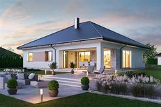 Modern Bungalow House Design, Modern Barn House, Design Your Dream House, Modern Porch, Classic House Exterior, Home Decoracion, Rest House, House Blueprints, Home Room Design