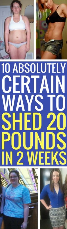 10 guaranteed ways to lose 20 pounds in just 14 days.