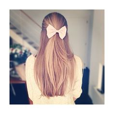 straight hairstyles with bow Latest Fashion Trends ❤ liked on Polyvore featuring hair