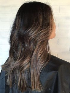 Subtle+Brown+Balayage+Hair