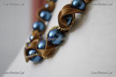 diy filigree, ribbon and pearl jewelry - Google Search