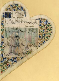 nends:    Chansonnier de Jean de Montchenu, ca. 1475 - medieval musical manuscript