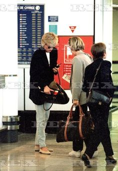 3 May 1996 Diana at Heathrow on her way to costa del sol for a mystery 8 hour last minute trip